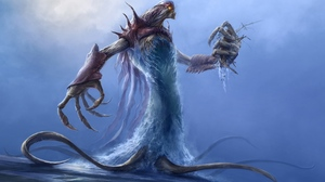 Monster Sea Blue Creature 3840x2400 Wallpaper
