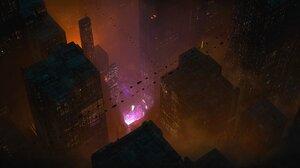 Sci Fi City 4096x1712 Wallpaper