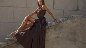 Brunette Dress Girl Long Hair Model Woman 2048x1365 Wallpaper