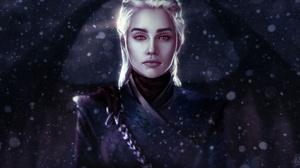 Girl Daenerys Targaryen White Hair Woman 2500x1358 wallpaper
