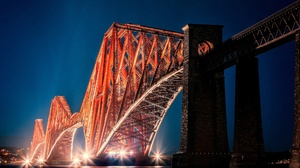 Bridge Edinburgh Forth Bridge Night Scotland 1920x1200 wallpaper