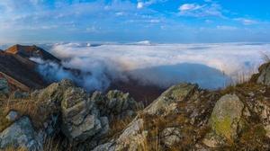 Cloud Mountain Nature Rock 2048x1249 Wallpaper