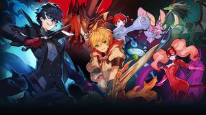 Anime Girls Anime Boys Fictional Characters Game Characters Persona 5 Nintendo Sword Akira Kurusu An 1920x1100 Wallpaper
