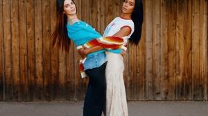 Kendall Jenner Laura Harrier Women Two Women Model Actress Dark Hair Long Hair Straight Hair Fashion 1200x1471 Wallpaper