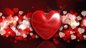 Bokeh Heart Love Red 4500x3500 Wallpaper
