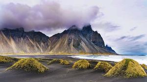 Cape Cloud Iceland Landscape Mountain 2000x1322 Wallpaper