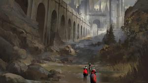 Castle Knight Warrior 2000x1124 Wallpaper