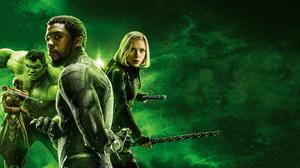 Avengers Infinity War Black Panther Marvel Comics Black Widow Chadwick Boseman Danai Gurira Hulk Mar 8000x3556 wallpaper