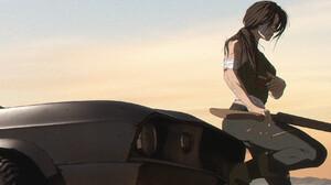 Tonton Revolver Women Car Women With Cars Girls With Guns ArtStation Black Cars Vehicle Wounds Shotg 1920x960 Wallpaper