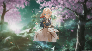 Violet Evergarden Anime Girls Anime Picture In Picture 3840x2160 Wallpaper