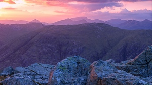 Mountain Rock Scotland Sky Sunset 1920x1080 wallpaper