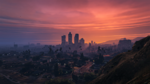 Digital Video Game Art Los Santos Cityscape Grand Theft Auto V 3840x2160 Wallpaper