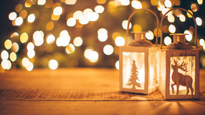 Winter Christmas Lights Holiday 1920x1080 Wallpaper