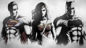 Batman Dc Comics Superman Wonder Woman 2880x1620 Wallpaper