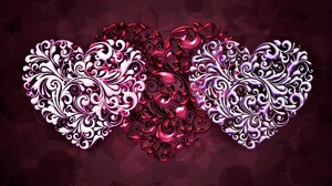 Artistic Heart Pink Red 1920x1080 wallpaper