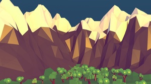 Low Poly Mountain Nature Tree 2880x1768 Wallpaper