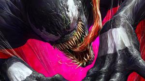 Venom Digital Art Tongue Out Hands Teeth Claws 1319x2000 Wallpaper