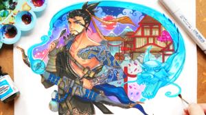 Hanzo Overwatch 3020x2001 Wallpaper