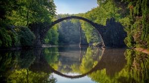 Bridge Nature River Reflection 6010x4005 Wallpaper