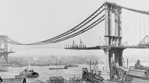 Man Made Manhattan Bridge 2560x1024 Wallpaper