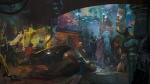 Artwork Fantasy Art Digital Art Cyberpunk Futuristic 1900x858 Wallpaper