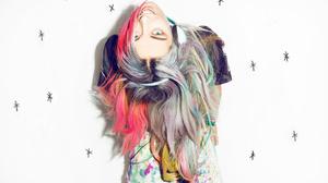Chloe Norgaard Women Model Young Woman Long Hair Danish White Background 1432x1200 Wallpaper
