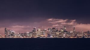 Building City Night San Francisco Skyscraper Usa 5552x3701 Wallpaper