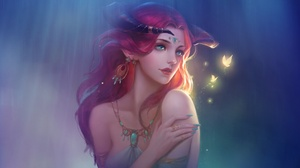 Fairy Girl Red Hair Woman 1920x1200 wallpaper