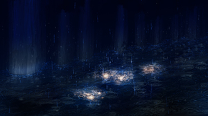 Dark Night Rain Water 2560x1440 wallpaper