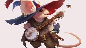 Moniek Schilder Artwork Fantasy Art Mice Music Musical Instrument White Background Anthro 2940x2610 Wallpaper