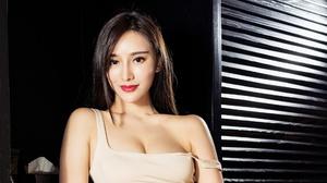 Asian Black Hair Brown Eyes Girl Lipstick Model Woman 1920x1080 Wallpaper