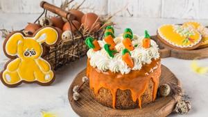 Bunny Cake Carrot Dessert Egg Pastry Still Life 5470x3647 Wallpaper