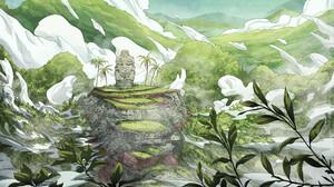 Christian Benavides Digital Art Fantasy Art Statue Clouds Hills Grass 3840x2160 Wallpaper