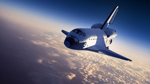 Cloud Space Space Shuttle 4000x2250 wallpaper