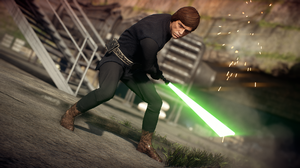 Lightsaber Luke Skywalker Yavin 4 1920x1080 Wallpaper