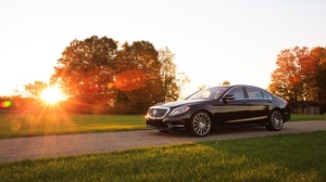 Black Car Car Luxury Car Mercedes Benz Mercedes Benz S Class Vehicle 4096x2304 wallpaper