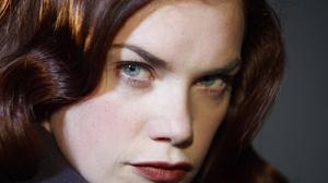 Actress Face Blue Eyes Lipstick Brunette Stare 4000x2667 Wallpaper
