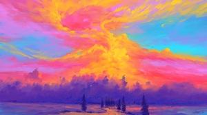 BisBiswas Digital Art Illustration Clouds 1920x1080 Wallpaper
