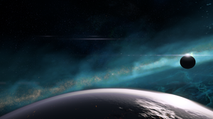 Space Andromeda Mass Effect Planet 3440x1440 Wallpaper