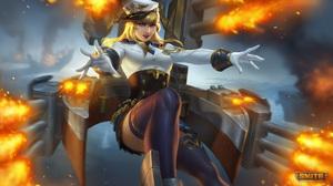Smite Watermarked Nu Wa Smite Nu Wa Battleship Cannons Gloves Skirt Mythology Caravan Studio 3840x2160 Wallpaper