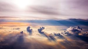 Cloud Horizon Sky Sunbeam 2000x1125 Wallpaper