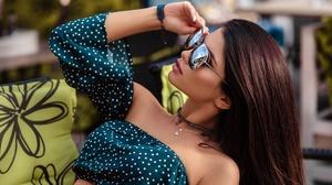 Tatiana Bulay Karina Smolsky Model Women Brunette Mouth Lips Lipstick Sunglasses Women With Shades T 2560x1624 Wallpaper