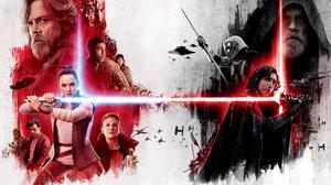 Bb 8 C 3po Carrie Fisher Chewbacca Daisy Ridley Finn Star Wars John Boyega Kelly Marie Tran Kylo Ren 5100x3300 Wallpaper