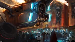Darth Vader Droid Droideka Star Wars Spaceship Star Wars Stormtrooper 3840x2160 Wallpaper