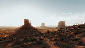 Desert Nature Landscape Outdoors Sand Rocks Rock Formation Far View USA Monument Valley Sky Clouds B 5472x3648 Wallpaper