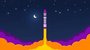 Rocket Sky 3840x2160 Wallpaper