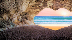 Beach Cave Earth Ocean Rock Sand Sea 1920x1080 Wallpaper