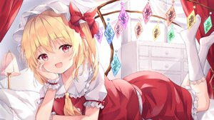 Anime Anime Girls Open Mouth Pink Eyes Blonde Looking At Viewer Dress Red Dress Women Indoors Wings  3799x2771 wallpaper