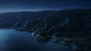 Aerial Apple Inc Big Sur Coastline Landscape Mountain Ocean 6016x5469 Wallpaper