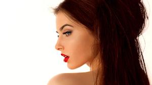 Girl Portrait Face Profile Makeup Long Hair Lipstick 1920x1200 Wallpaper